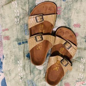 Rare Birkenstock Raffia  Sandals